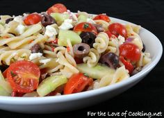 Mediterranean Pasta Salad - from For the Love of Cooking.