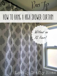 Hang A High Shower Curtain Without An XL Liner Tall Curtains Bathroom