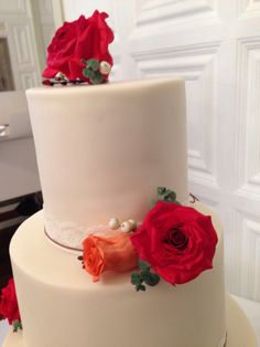 Autumn wedding cake - top tier