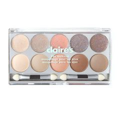 Claires : Neutral Glitter and Shimmer Eyeshadow Palette Claire's Makeup, Kids Makeup, Glitter Eye Makeup, Cute Makeup, Shimmer Eyeshadow Palette, Eyeshadow Set, Neutral Eyeshadow, Makeup Palette, Justice Makeup