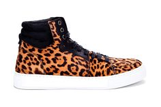 Yves Saint Laurent Leopard Malibu High Top Sneakers. True to YSL style, these kicks will set you back $725 USD. You can pick up a pair from online fashion boutique SSENSE.