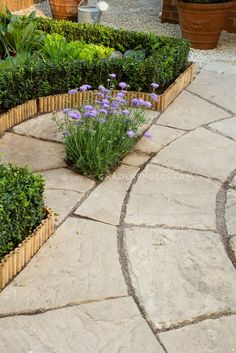 Edging idea and landscaping.