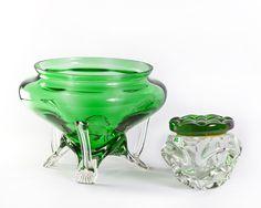Centro verde Vintage Vintage glass Green