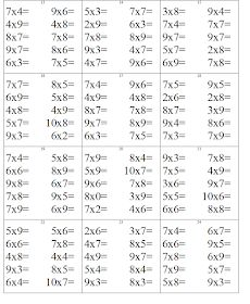 EDUCATIA CONTEAZA: INMULTIREA NUMERELOR NATURALE Math Fractions, Multiplication, Kids Math Worksheets, Page Borders, Cool Coloring Pages, School Staff, Math For Kids, Paper Models, Learning Spanish