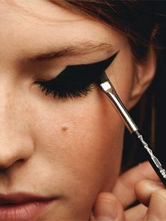 This daring cat eye would pair perfectly with a bare face for a bold statement
