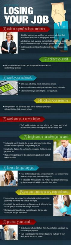 Career infographic : How To Survive Losing Your Job (INFOGRAPHIC) | Manolith