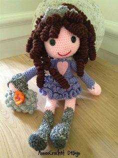 doll beauty; not the typical doll we think of but for some children and their elders these huggy dolls are so important. I crochet, but would have to learn this artist's technique to do the pretty hair, hence the pin.