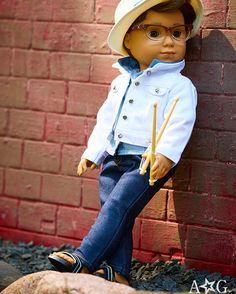 ff2d7975f Drumming up an adorable look for Logan Everett. Maxine Wiggins · American  Girl Brand Doll Boy ...