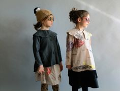 The strong collar shape is a signature detail for Wolf & Rita kidswear, worn with Zoobug sunglasses