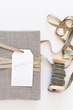 velvet ribbon and neutral tones More