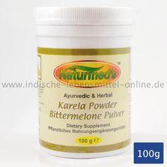 Bittermelonen Pulver, Pflanzliches Nahrungsergänzungsmittel, Karela,  Bittergourd Powder, Amritha Naturmeds, 100g