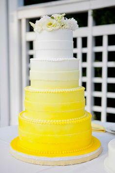 Cake Design: The Sugar Suite Photo: Ashley McCormick Photography Beautiful Cake Designs, Beautiful Cakes, Amazing Cakes, French Cake, White Cakes, Ombre Cake, Bakery Cakes, Pretty Cakes, Cake Creations