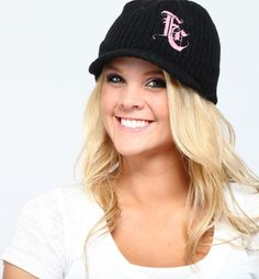 Black-pink Beanie Hat from Picsity.com  i want this so bad
