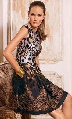 Boston proper animal lace ombre dress
