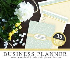 Ultimate Business Planner Organizer Kit - Instant Download - Printable DIY - 30 Unique Pages - Small Company Binder, Etsy Business Plan