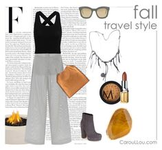 """""""FALL - Travel style"""" by caroullou-nomad-since-1994 ❤ liked on Polyvore featuring Janna Conner, Perret Schaad, Steve Madden, STELLA McCARTNEY, MAKE UP STORE, Elizabeth Arden and HAY"""