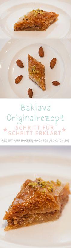 Original Baklava-Rezept mit Schritt für Schritt Anleitung. So einfach kann man die traditionelle Süßigkeit Baklava selbermachen!