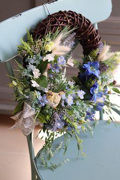 Topiary, Grapevine Wreath, Grape Vines, Floral Wreath, Wreaths, Beauty, Decor, Painted Flowers, Crowns