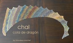 Chal cola de dragón / Dragon´s tail shawl Ravelry, Crochet Shawl, Valance Curtains, Shawls, Mondays, Home Decor, Google, Scarves, Crochet Batwing Tops