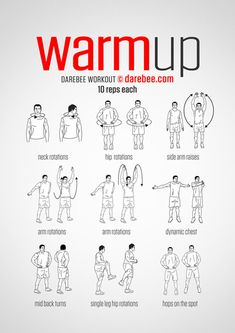 Workout warm up - PreWorkout WarmUp (always warmup before your workout and then stretch after) Fitness Workouts, Gym Workout Tips, Workout Challenge, Yoga Fitness, At Home Workouts, Health Fitness, Workout Abs, Cardio Workouts, Body Workouts