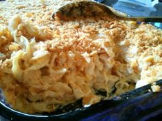 Cheesy Chicken Casserole                 3 to 4 cooked chicken breasts, chopped                 1 (16 ounce) package wide egg noodles, co...