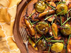 Spiced Eggplant With Tomato and Mustard Seeds Recipe - Serious Eats Fried Eggplant Recipes, Eggplant Dishes, Indian Food Recipes, Vegetarian Recipes, Healthy Recipes, Ethnic Recipes, Indian Foods, Side Dish Recipes, Side Dishes