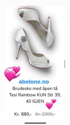 Nydelige brudesko til bryllupet. Selges via nettbutikken ABELONE.NO🌸 Kitten Heels, Shoes, Fashion, Moda, Zapatos, Shoes Outlet, Fashion Styles, Shoe, Footwear
