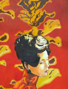 In the Mood For Love Original Artwork Oil Painting 24 x 32