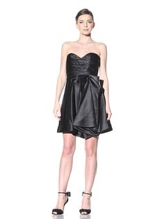 A.B.S. by Allen Schwartz Women's Strapless Bow Dress (BLACK)