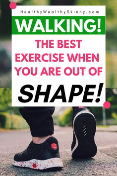 Walking is the best exercise when you are out of shape. It's easy to do, no special equipment needed and you can start at your current fitness level. Weight Lifting Workouts, Easy Workouts, Out Of Shape, Get In Shape, Exercise For Bad Back, Health Benefits Of Walking, Bones And Muscles, Make Up Your Mind, Feel Tired
