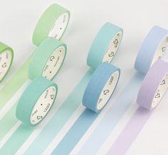 Simple Unicolor Washi Tape (24 Colors)