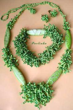 Hierba verde - Collar - INSTRUCCIONES de Cuentas