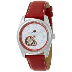 Tommy Hilfiger Women's 1780791 Automatic Stainless Steel Leather Strap Watch $125.00