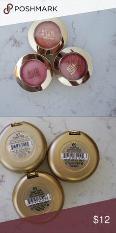 Milani blush set 3 MILANI blushes Makeup Blush