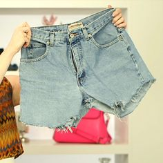 Get ready for summer with some upcycling: How to Make the Perfect Denim Cutoffs - www.fabsugar.com
