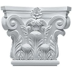 Ekena Millwork Corinthian x Primed Urethane Capital Entry Door Casing Accent (Actual: x) at Lowe's. Our appliqués and onlays are the perfect accent pieces to cabinetry, furniture, fireplace mantels, ceilings, and more. Roman Columns, Stone Columns, Door Casing, Panel Moulding, 3d Laser, Ceiling Tiles, Acanthus, Corinthian, Entry Doors