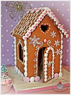 Gingerbread House - Pink Edition by Julycupcakes, via Flickr