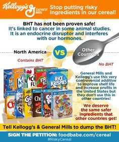 Kellogg's and General Mills: Stop Putting Risky Ingredients In Our Cereal! - Food Babe