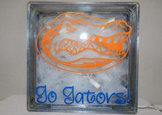Super Cute University of Florida Go Gators Light-Up Glass Block. $35.00, via Etsy.