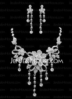 Jewelry - $36.99 - Jewelry Sets Anniversary Wedding Engagement Birthday Gift Party Alloy With Rhinestones Silver Jewelry With Rhinestone (011019285) http://jenjenhouse.com/Jewelry-Sets-Anniversary-Wedding-Engagement-Birthday-Gift-Party-Alloy-With-Rhinestones-Silver-Jewelry-With-Rhinestone-011019285-g19285