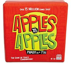 Apples To Apples Party Box The Game Of Hilarious Comparisons!, Size: Apples to Apples Party Tin, Red Family Game Night, Family Games, Games For Kids, Games To Play, Buy Games, Party Box, Tea Party, Game Night Snacks, Frugal Family