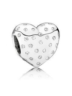 Pandora British Heart Foundation Cubic Zirconia Heart Charm 791241CZ