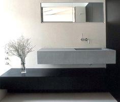 Grey sink by Paris based architect, Antonio Virga