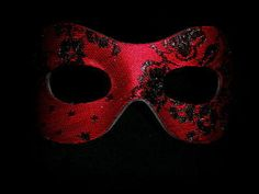 Fellini Red Masquerade Mask in Black and Red. #blackandred #masks http://www.pinterest.com/TheHitman14/black-and-red/