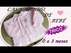 CARDIGÁN ROSADO EN TEJIDO PARA BEBES - 0 A 3 MESES - YouTube Baby Knitting Patterns, Knitting For Kids, Crochet Crafts, Knit Crochet, Crochet Baby Shoes, Knitting Videos, Baby Booties, Youtube, Pink