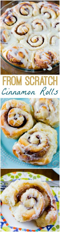 These Homemade Cinnamon Rolls are so simple! They're completely from scratch and will become your new favorite. Seriously!
