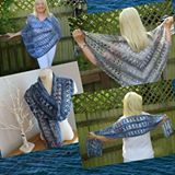 Ocean Kiss Summer Collection - Poncho, Shawl, Wrap, Scarf featuring the soft and gorgeous Lion Brand Shawl in a Ball #lionbrandyarn #lionbrand #favecrafter #freepattern #thelinkyladies