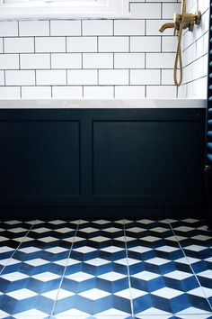 Bathrooms: lush when they are done, nightmares whilst they are happening, and more expensive than I'd ever imagined! That's how I'd sum up my first experience of putting in a brand new bathroom. I had been hoping to put the bathroom project off... #brassbathroom #brasswalltaps #encausticcementtiles