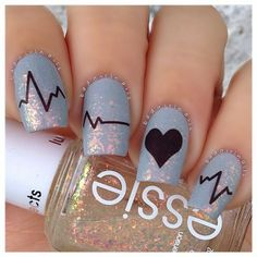 Heartbeat Nails from @Donna Bellenger Kit (& giveaway)