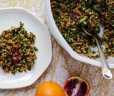 Chopped Kale and Carrot Salad with Blood Orange Vinaigrette